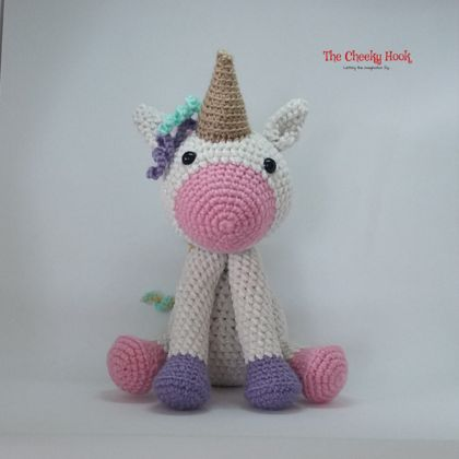 Crochet Unicorn Amigurumi Toy