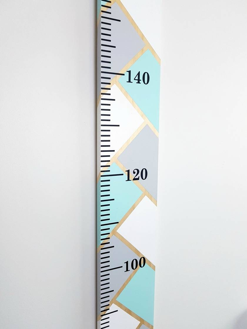 Wooden Height Chart Herringbone Pattern Plain or Personalised