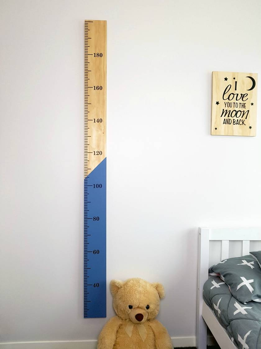 Wooden Height Chart Half n Half Plain or Personalised