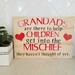 Grandads are there to help children get into the mischief they haven't thought of yet Ply Sign