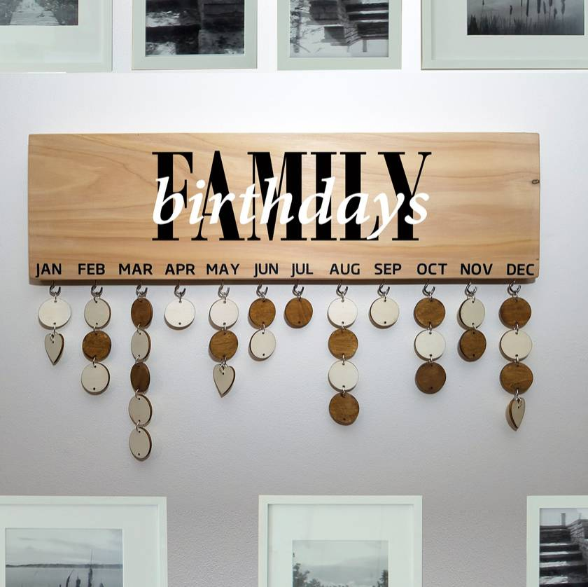 Family Birthday Board Personalised