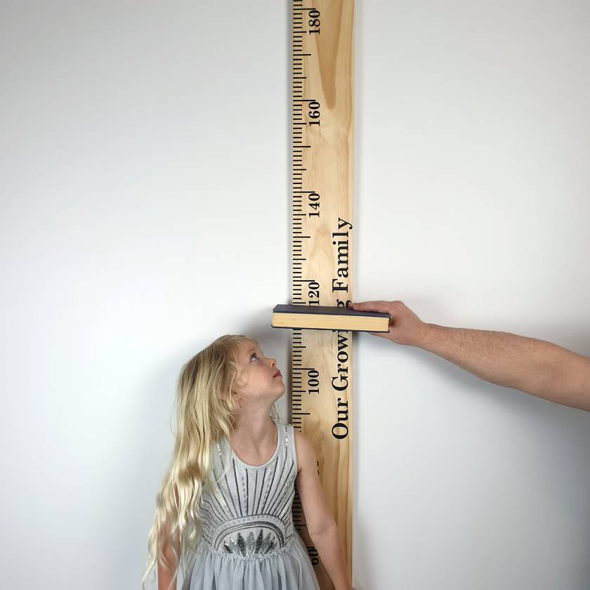 Plain or Personalised Pine Wooden Height Chart Ruler