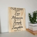 Our Home Ply Sign