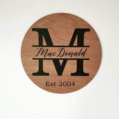 Family Name Circle Plaque