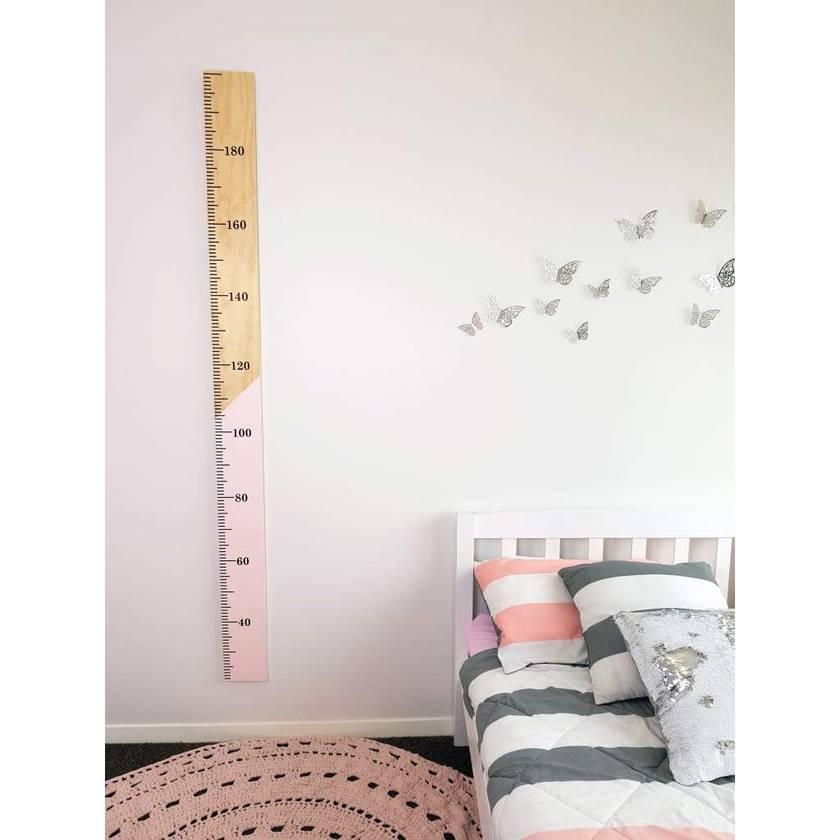 Half N Half Kids Wooden Height Chart