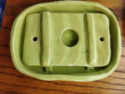 Soap Dishes, Ceramic, 2 Pieces. Soap Savers, Soap Holder, Soap Drainer, Soap Tray *FREE SHIPPING*