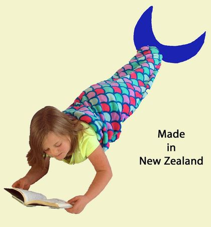 Mermaid Tail Blanket (medium size) FREE SHIPPING within New Zealand