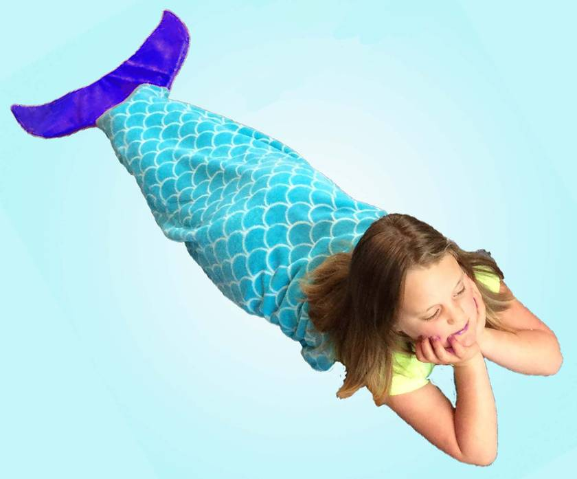 Mermaid Tail Blanket (large size) FREE SHIPPING in New Zealand