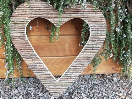 Large rustic Loveheart hanging