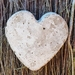 Rustic concrete loveheart hangings