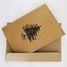4 x Letterpress Card - Vintage Christmas Block - Kraft/Black/Red