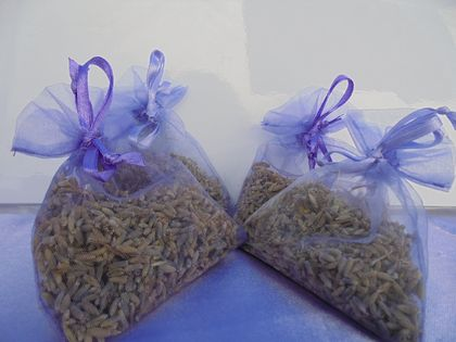 Five Organza Bags of NZ Grown Lavender