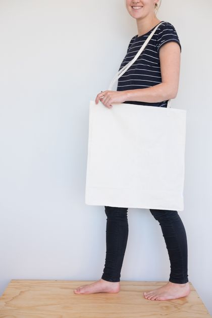 Oversize Tote - Raw Cotton