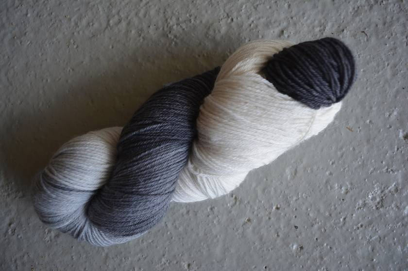 hand-dyed, 4ply sock yarn, 100 grams