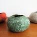 Felt treasure bowl - Pounamu green