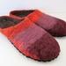 Custom made felt slippers - Womens sizes 6-12