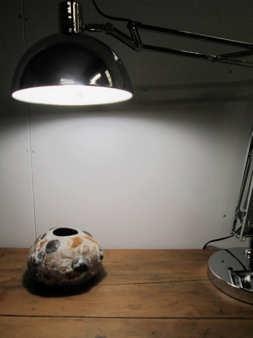 Large felt bowl - stone texture.