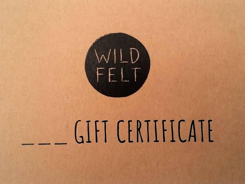 Wild Felt Gift Voucher - $100