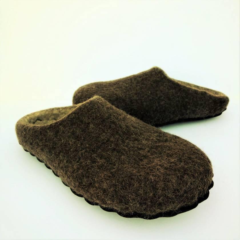 Custom made felt slippers - Men's size 7-12
