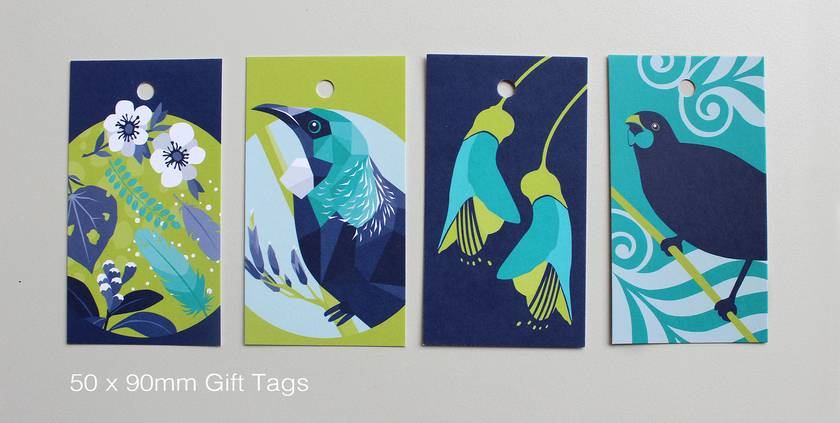 Birds of a Feather Gift Cards x4 +gift tags