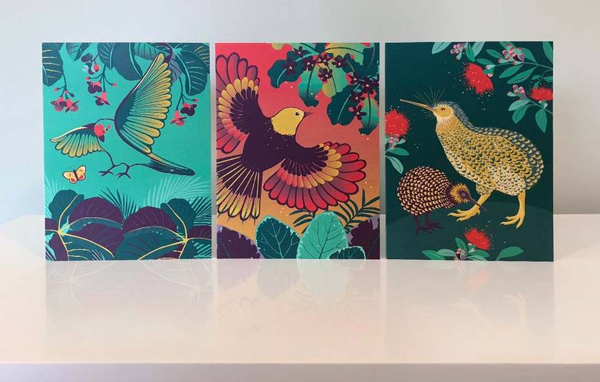 NEW Birds of a Feather Gift Cards x6