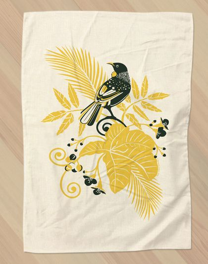 Mr Tūī Tea Towel