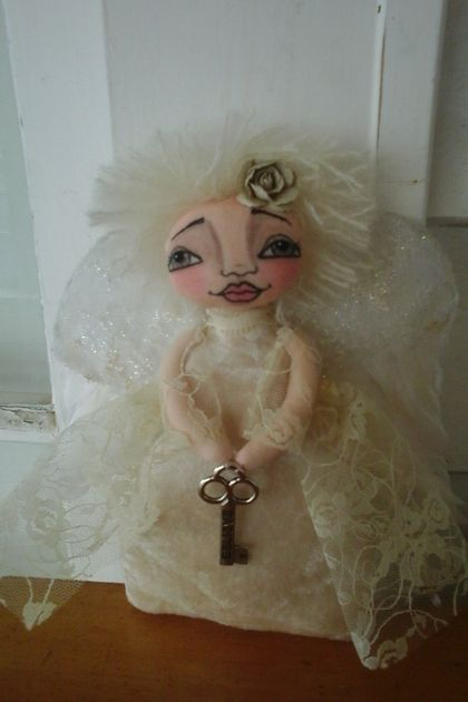 original cloth art doll angel