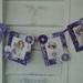 Purple fabric bunting of vintage ladies