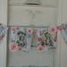 Marie Antoinette fabric bunting