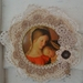 Madonna & child vintage doily wallhanging
