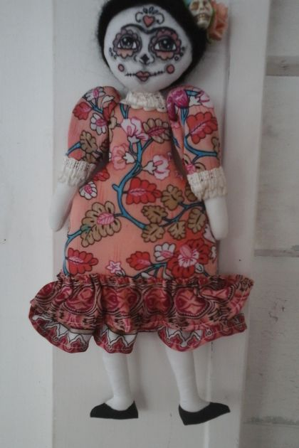 Frida Kahlo 'Day of the Dead' original cloth doll