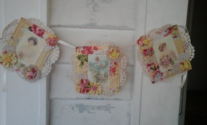 Yellow Vintage Ladies Bunting