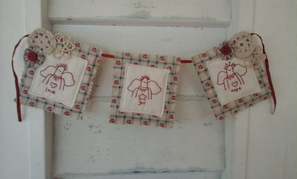 Stitched Angel Bunting