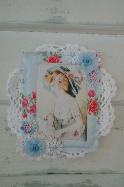 Blue Lady Doily Wall hanging