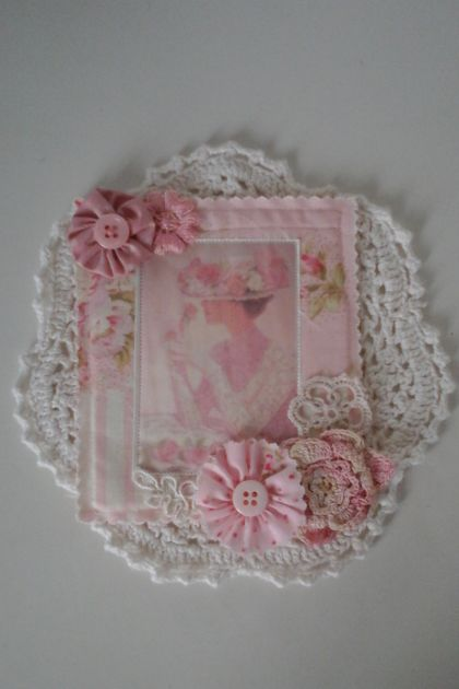 Pink Lady Doily Wall hanging