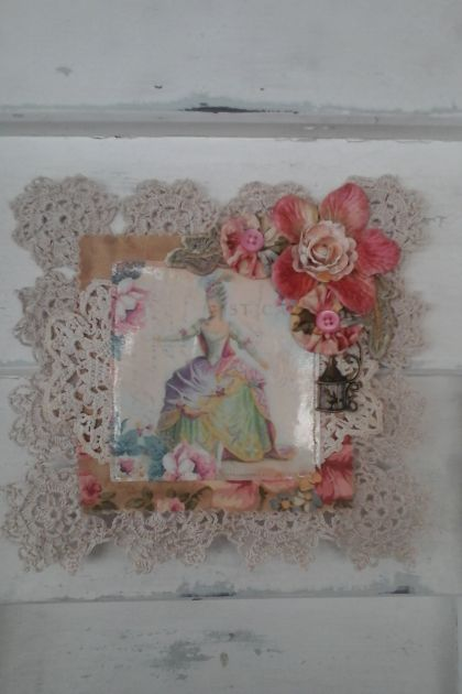 Vintage Marie Antoinette Doily Wall hanging