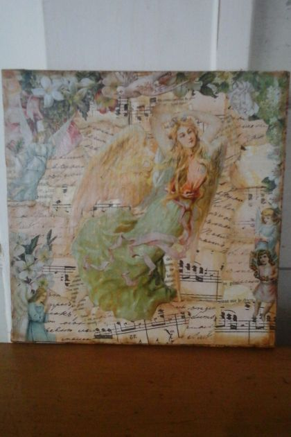 Christmas Angel Collage Canvas #2