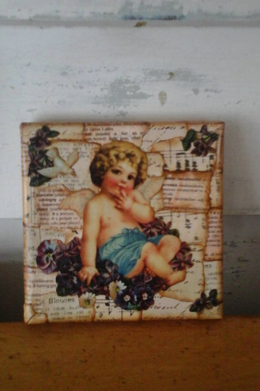 Cupid collage Canvas