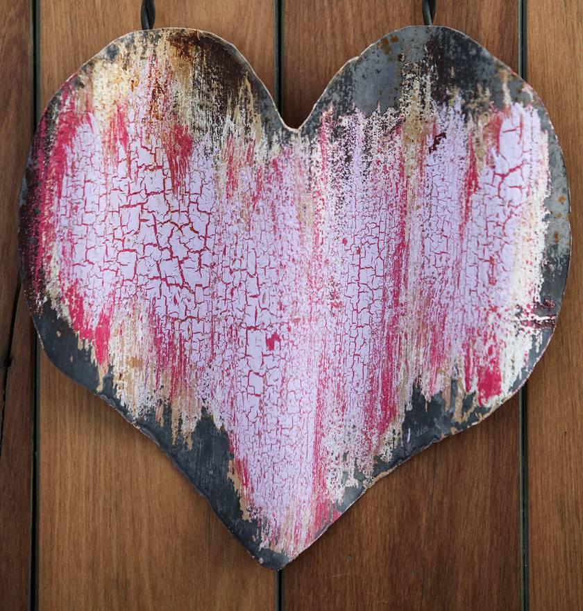 Rustic corrugated tin / iron heart
