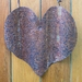 Rustic corrugated tin / iron heart