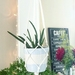 Knotted Plant Hanger - Vintage White