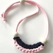 Modern Necklace - Navy & Soft Pink