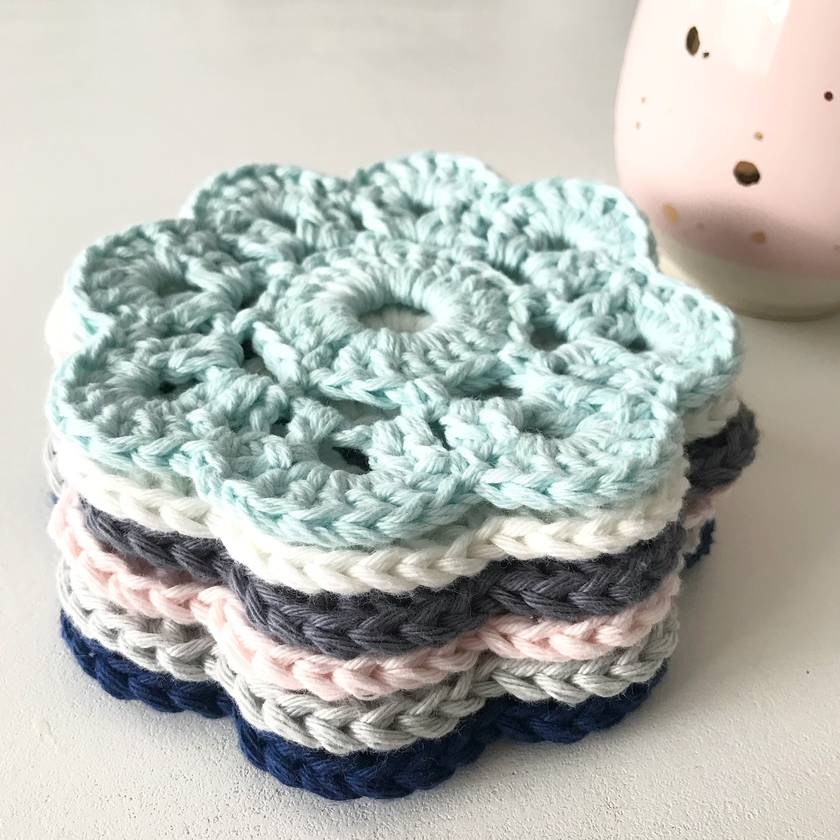 Cotton Coasters - Set of 6