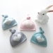 Prem Baby Merino Topknot Heart Hat - approx 26-27 weeks