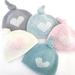 Luxury Merino Baby Topknot Heart Hat - Newborn