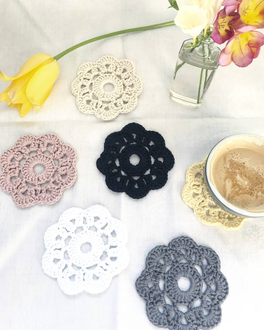Cotton Coasters - Set of 6