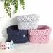 Square Folddown Textile Basket