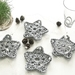 Christmas Star Coasters - Set of 4