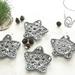 Christmas Star Coasters - Set of 4