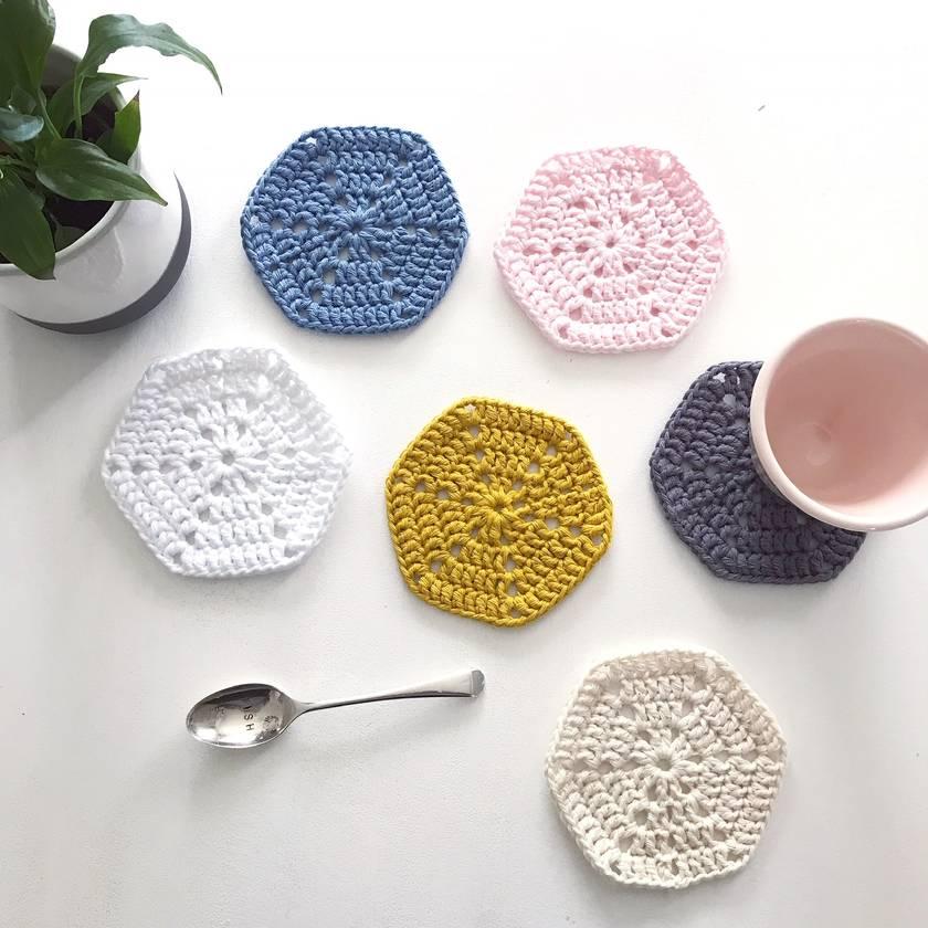 Scandi Cotton Coasters - Set of 6
